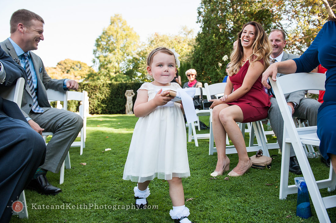 Flower girl at Fuller Gardens wedding