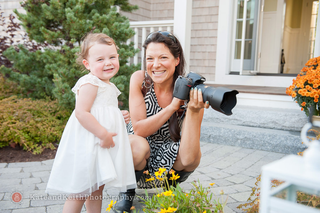 Kate Harris wedding photographer working