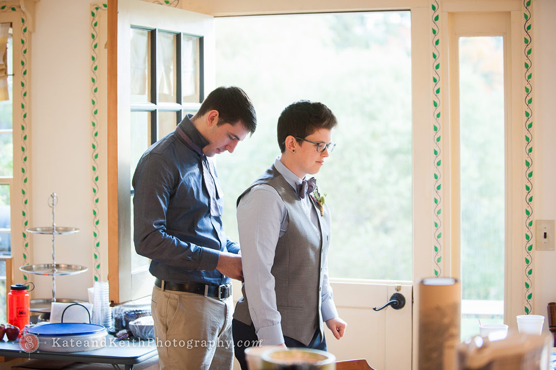 Acadia National Park wedding getting ready