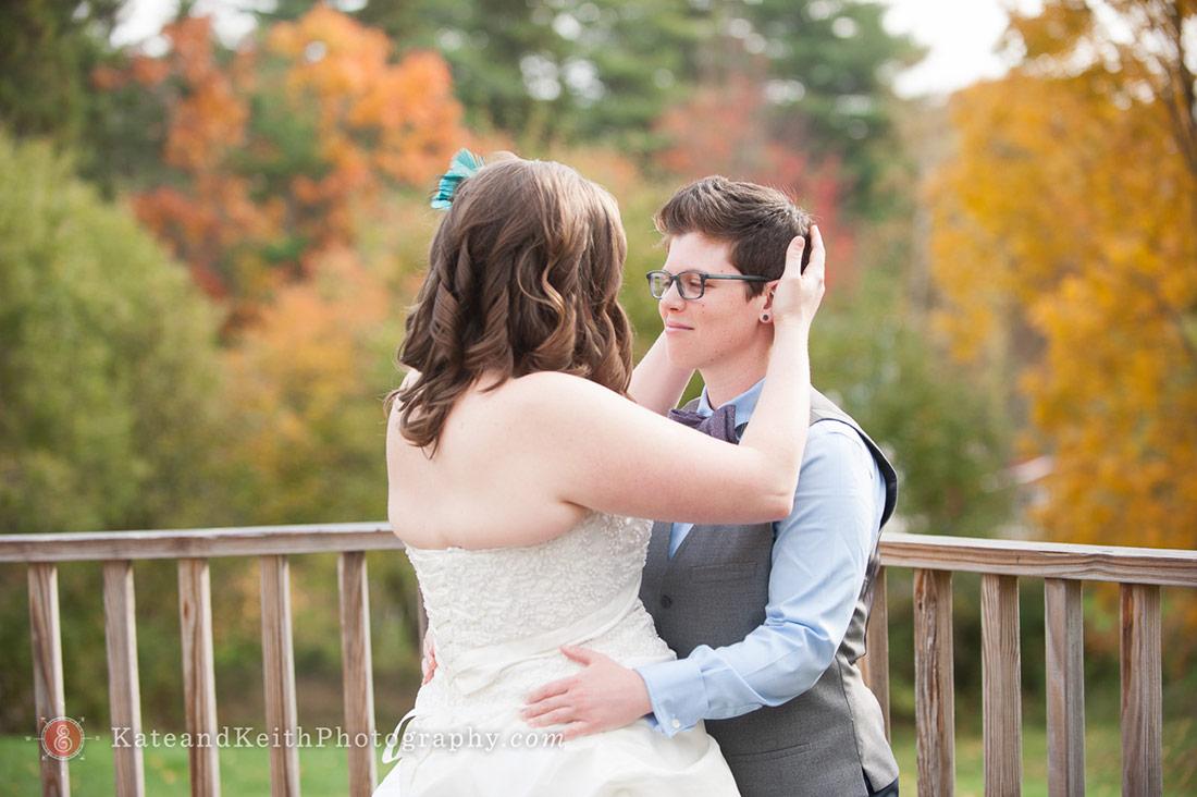Autumn Acadia National Park Wedding First Look