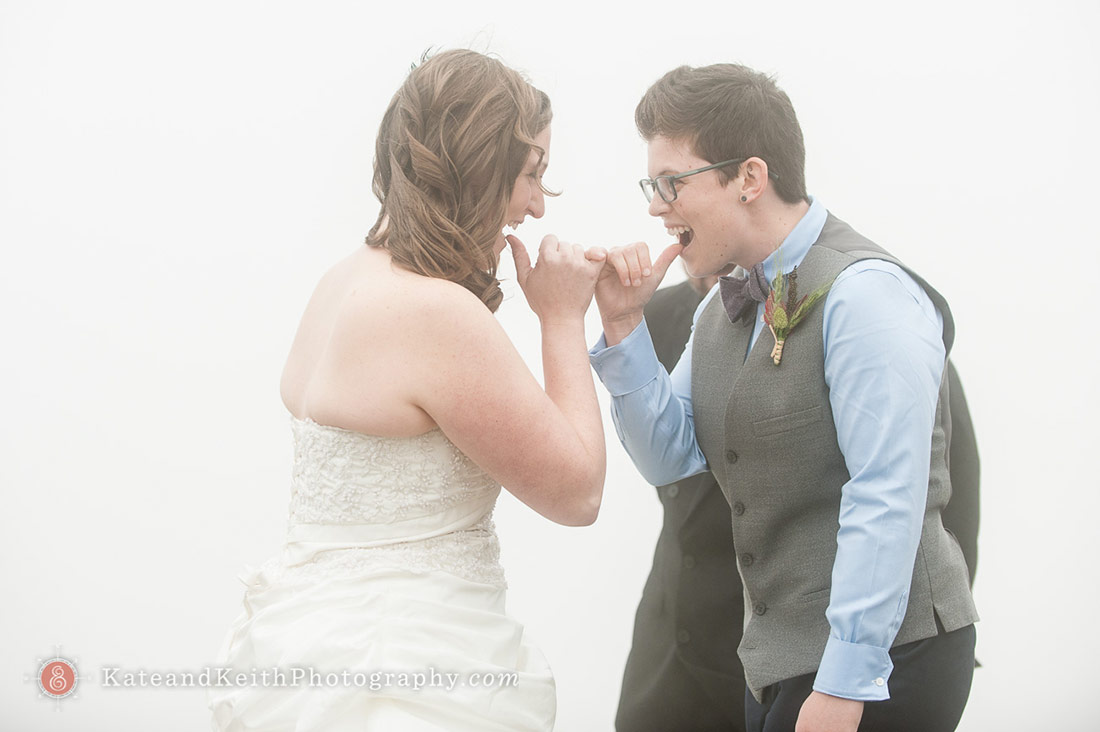 Cadillac Mountain wedding same sex ceremony Acadia National Park