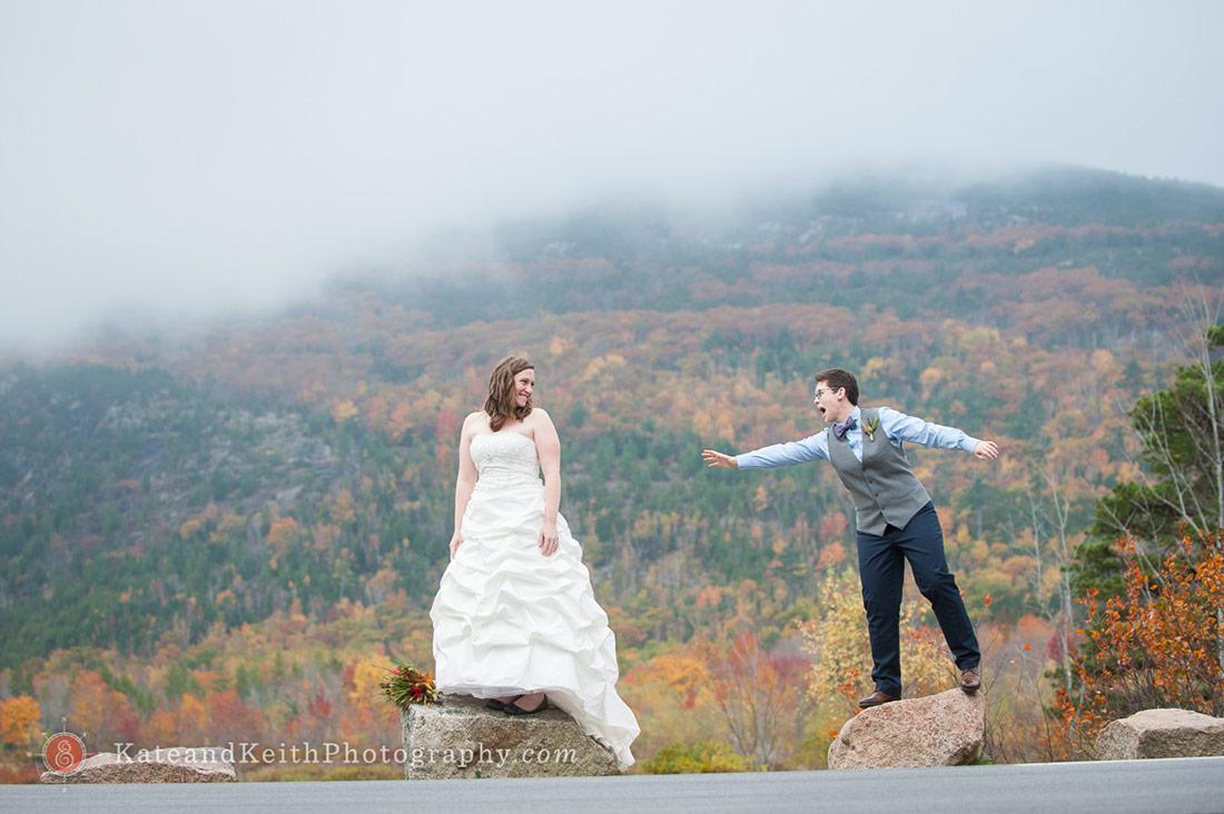 Autumn Cadillac Mountain Wedding Ceremony Acadia National Park
