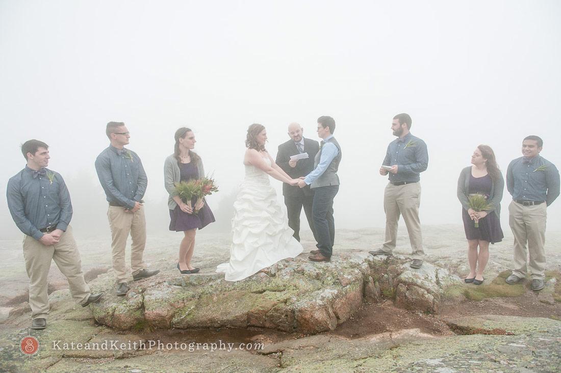 Cadillac Mountain wedding ceremony Acadia National Park