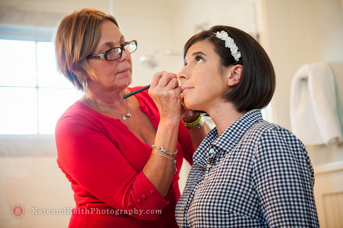 New Hampshire seacoast wedding make-up