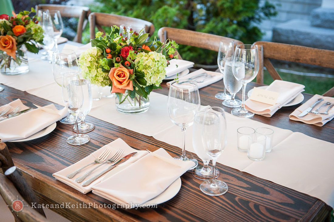 rustic table NH Seacoast wedding
