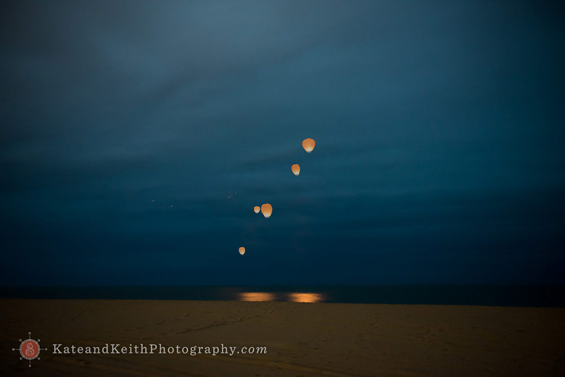 Nantucket Wish Lanterns at wedding
