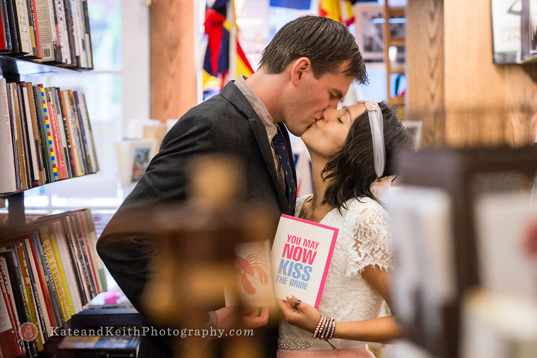 bookstore wedding photos