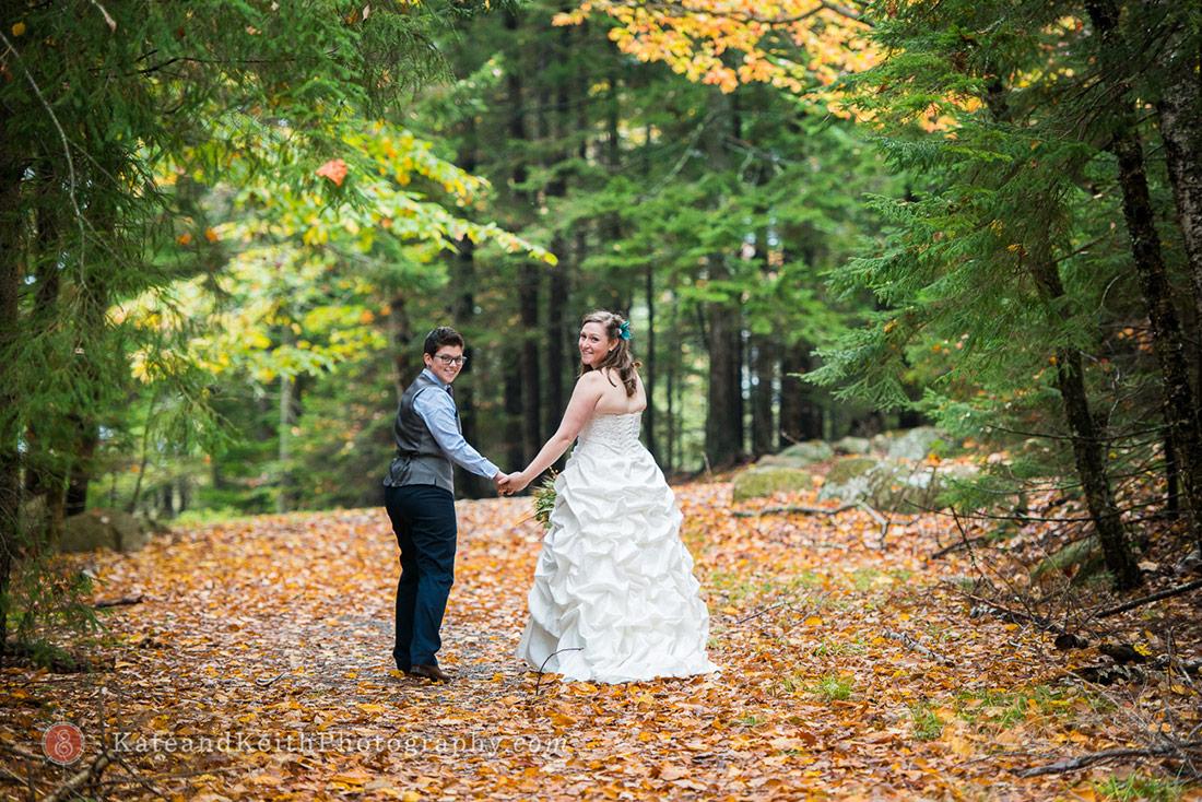 Fall Acadia National Park Wedding Jordan Pond