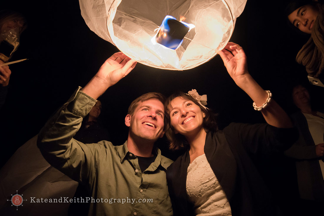 Nantucket Lighthouse Wedding wish lanterns