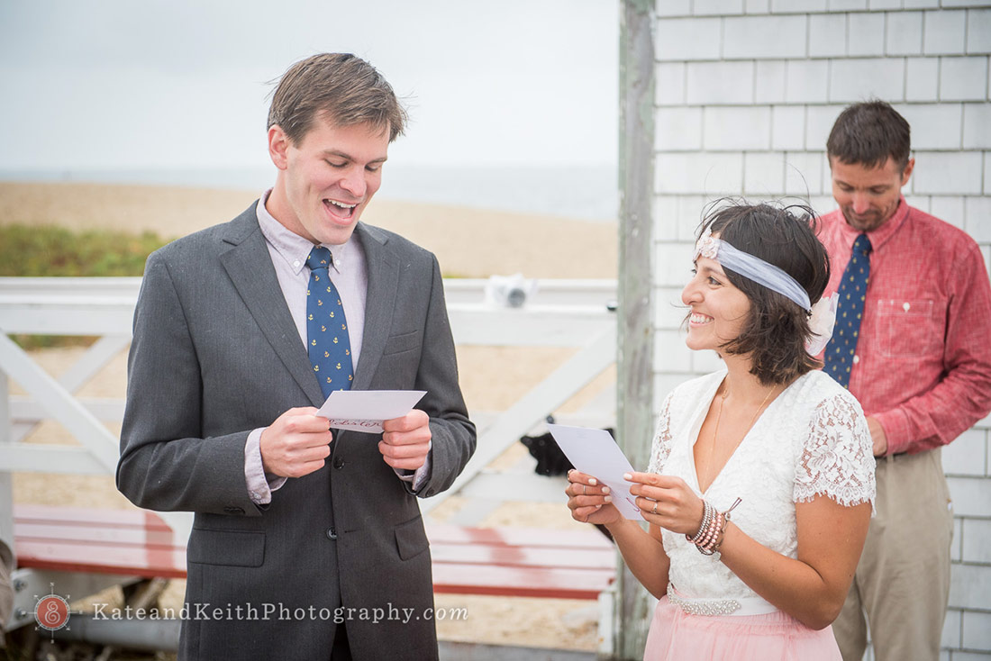 Nantucket Lighthouse Wedding vows