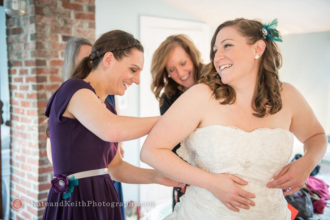 Acadia National Park wedding bride getting ready