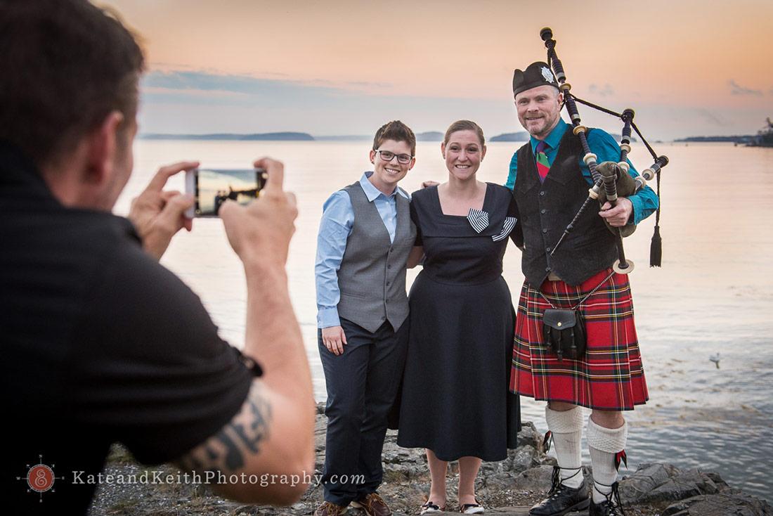 Acadian Piper Acadia National Park Wedding
