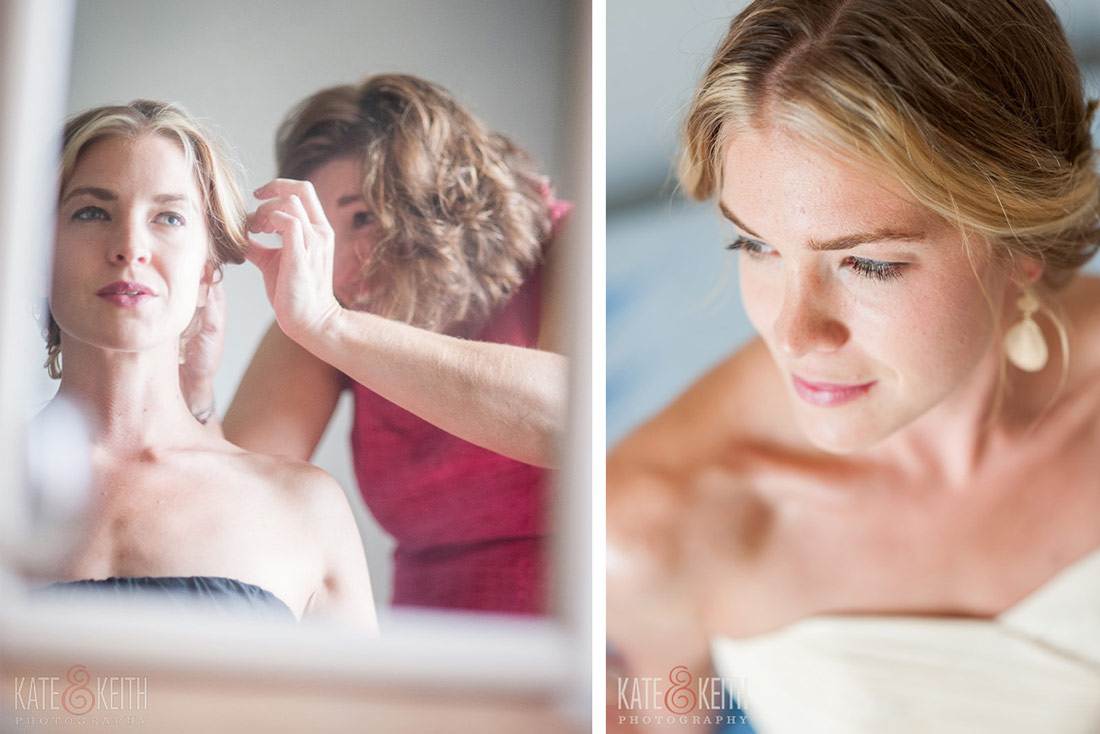 bride getting ready Cliff Island Wedding details