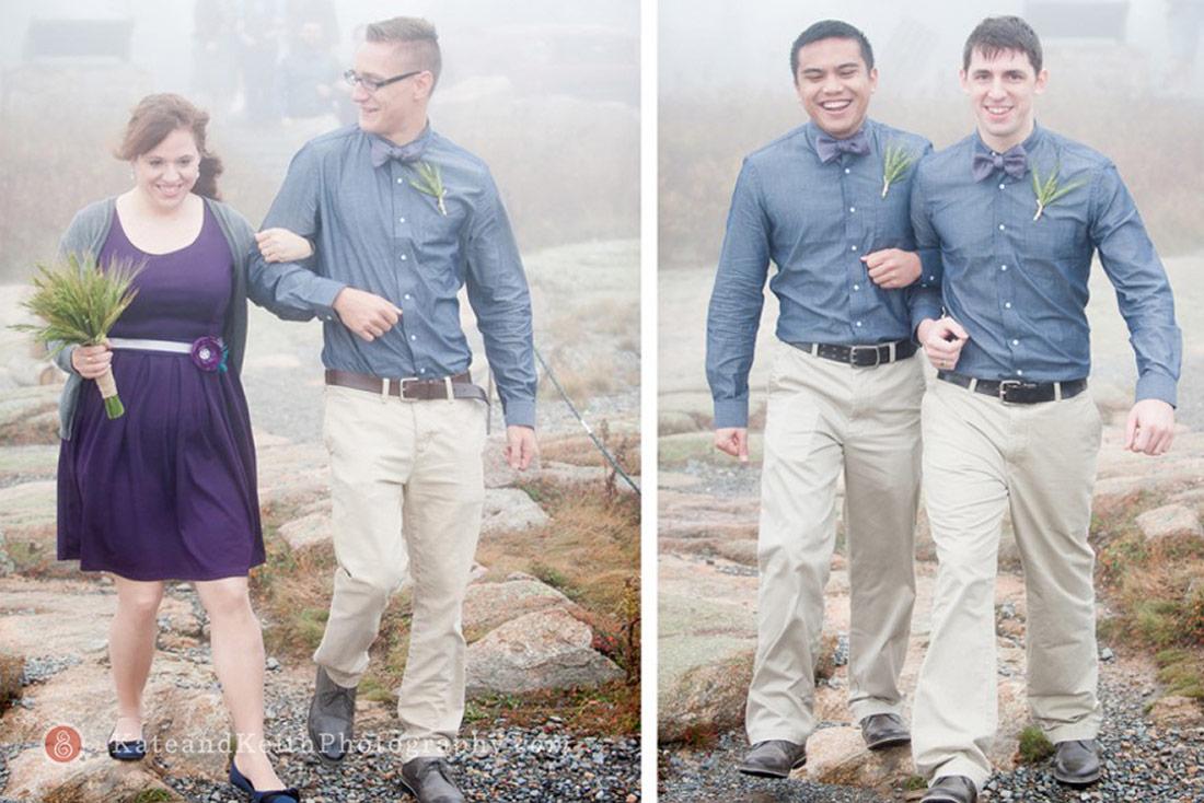 Acadia National Park wedding cadillac mountain party