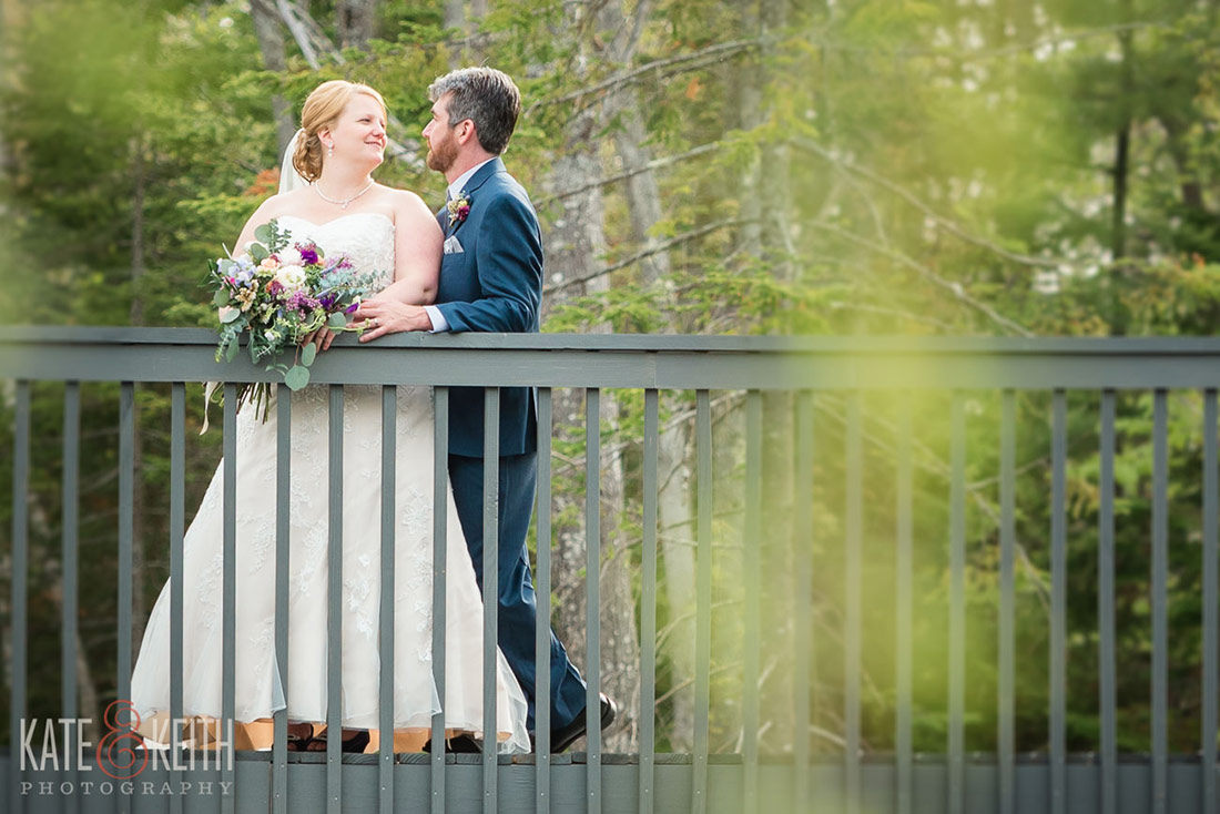 Hidden Pond wedding Kennebunkport, Maine bride and groom portrait