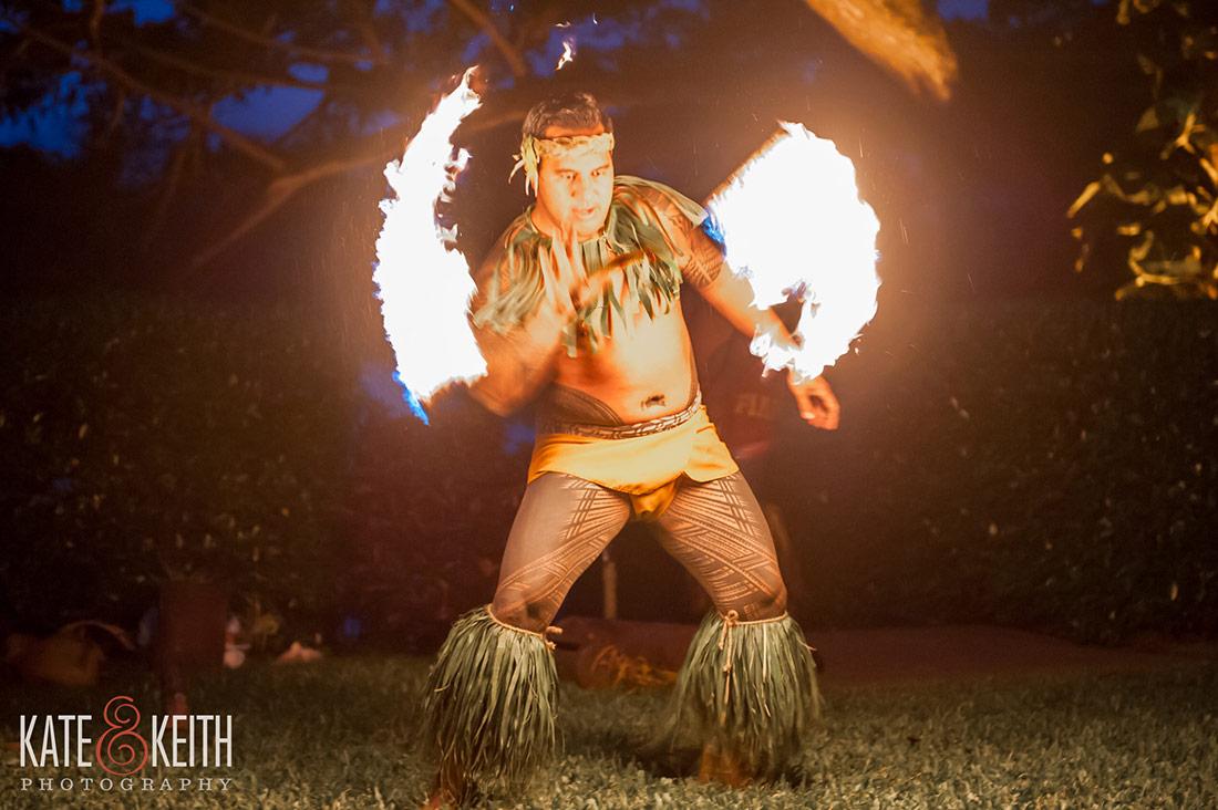Hawaiian beach wedding at Kualoa Ranch's Secret Island in Oahu by destination photographers
