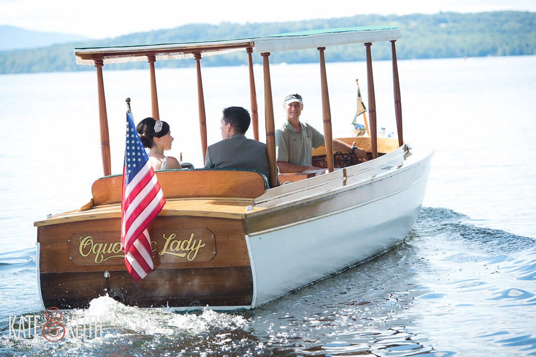 Rangeley Wedding Boat