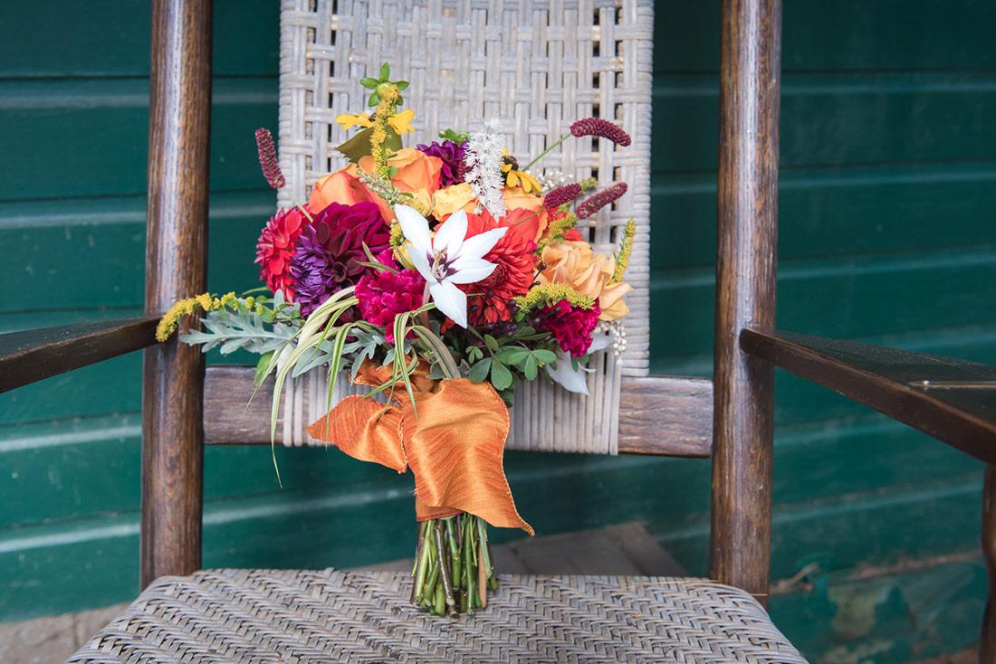 camp wedding flowers
