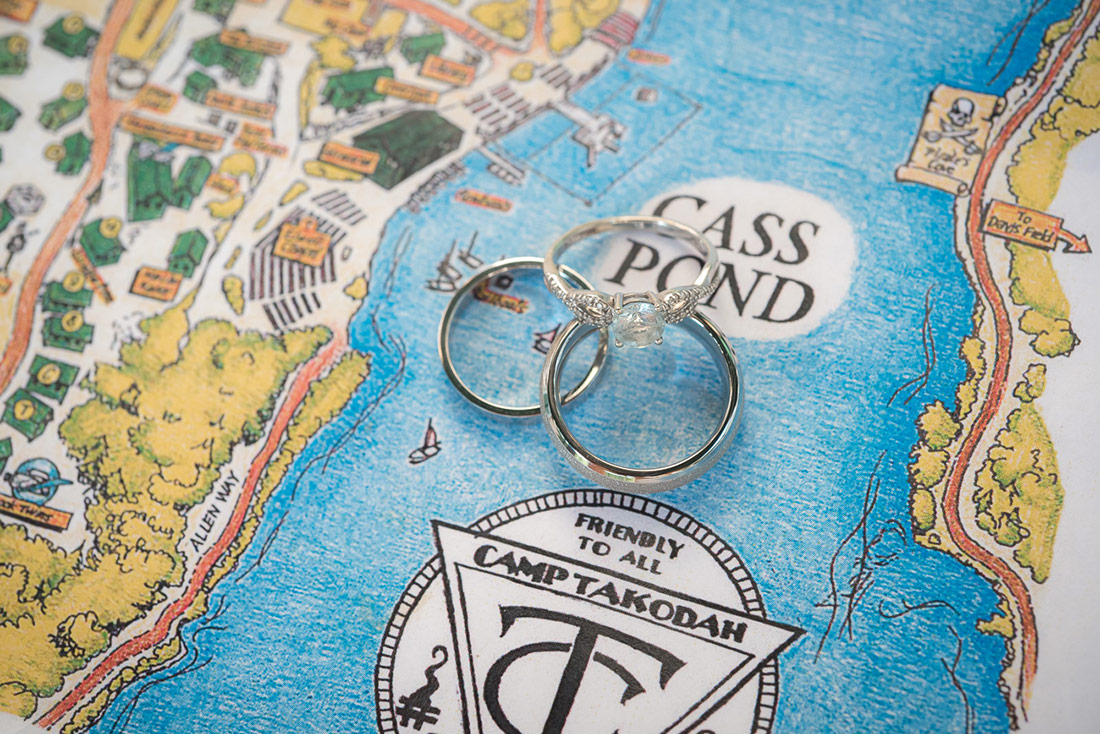 camp wedding rings
