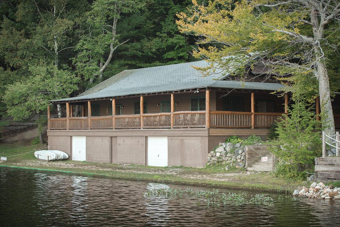 Lakeside camp wedding