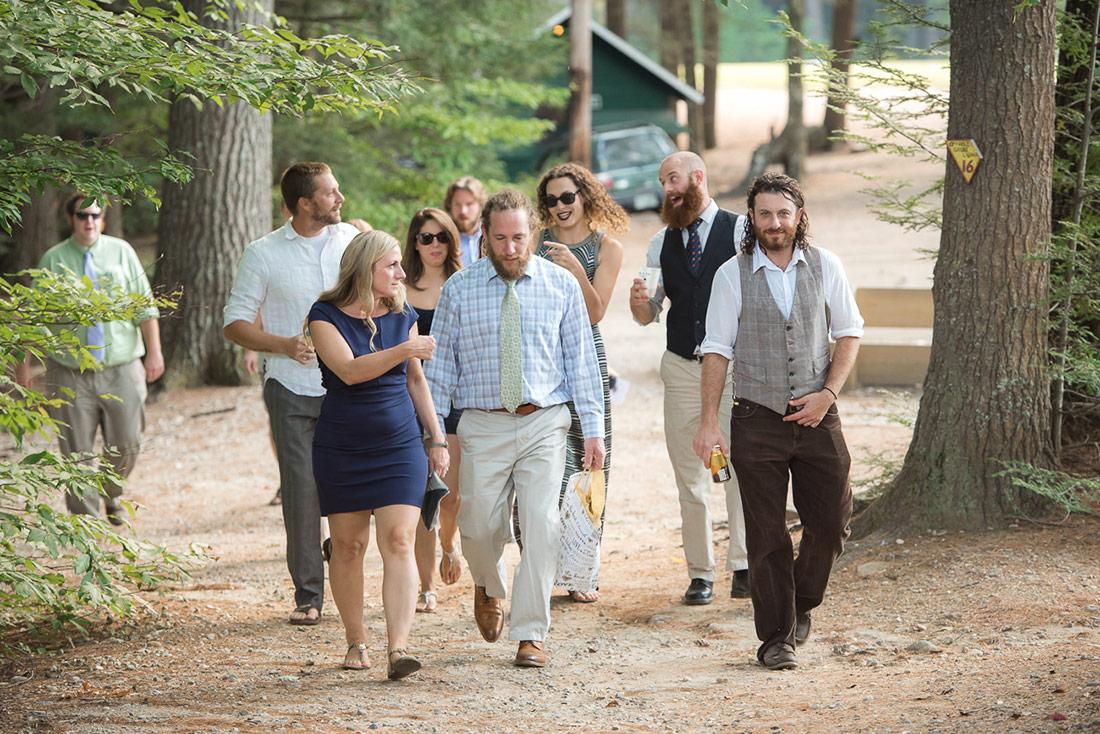 guests at camp wedding