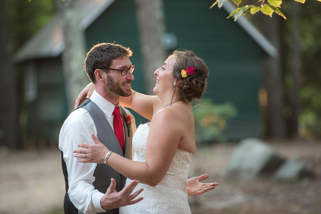 bride and groom fun