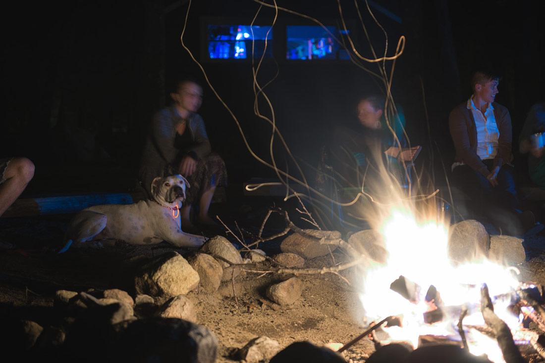 wedding camp fire