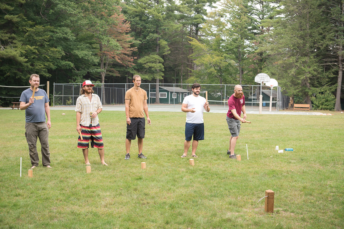 lawn games at camp wedding