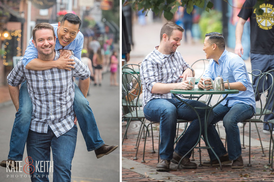 same sex couple engagement in Portsmouth NH
