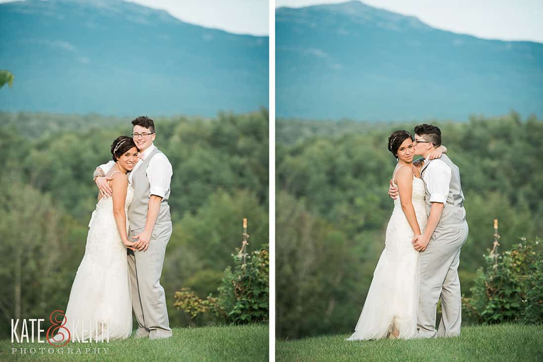 Girls in love at gay wedding in New Hampshire