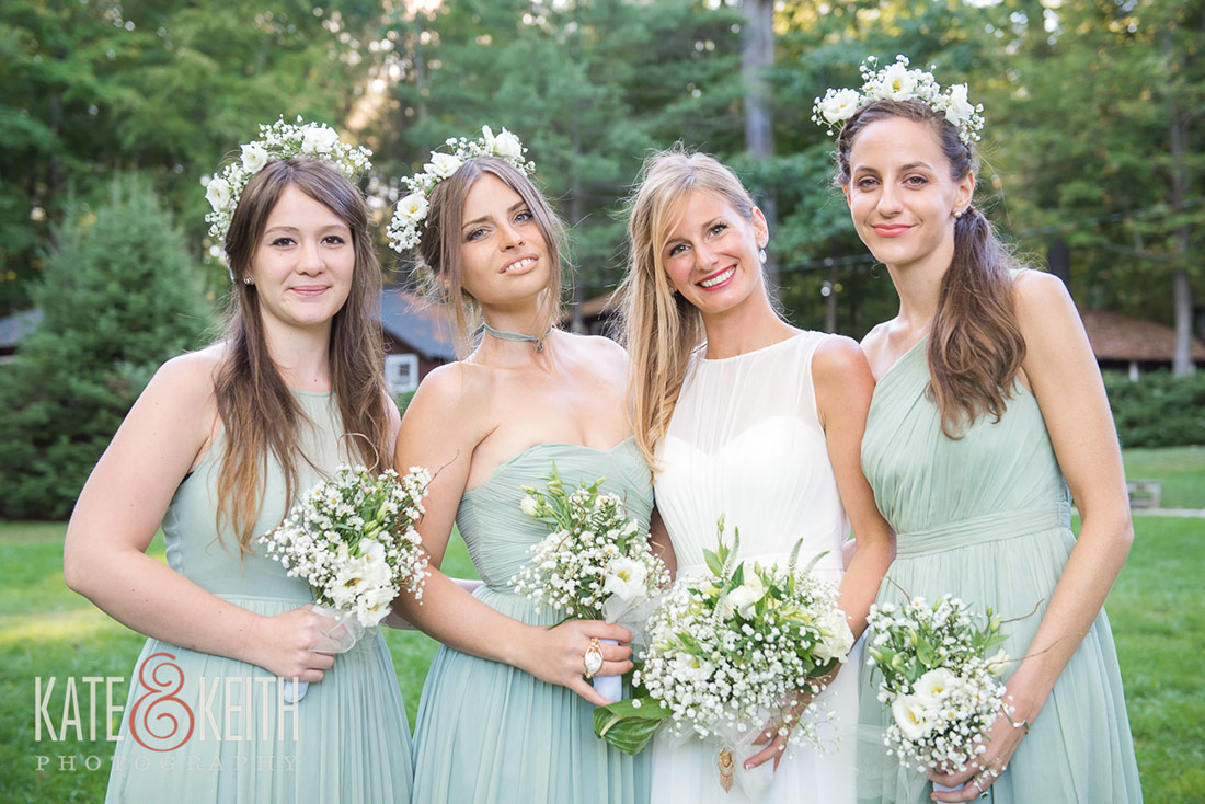 bridal party Camp Waziyatah Wedding