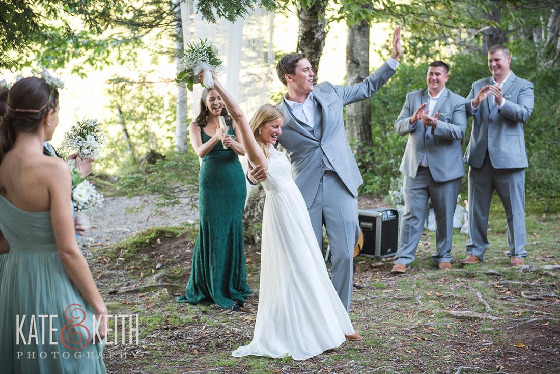 bride and groom at Camp Waziyatah Wedding
