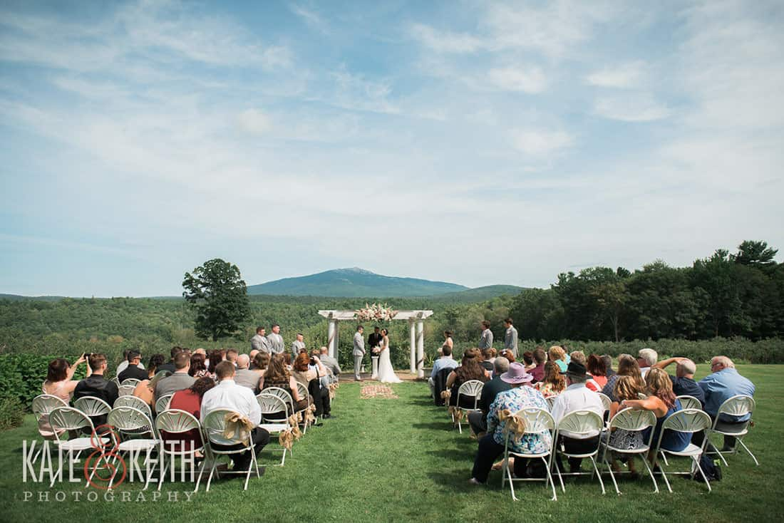Ceremony with a view for same sex wedding in New Hampshire