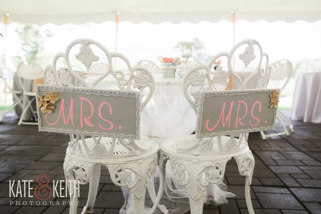 Mrs. and Mrs. wedding seats