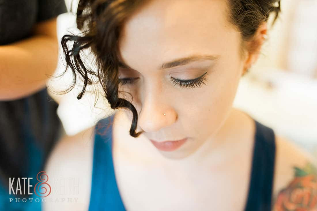Beautiful bride from same sex wedding at Monadnock Berry Farm