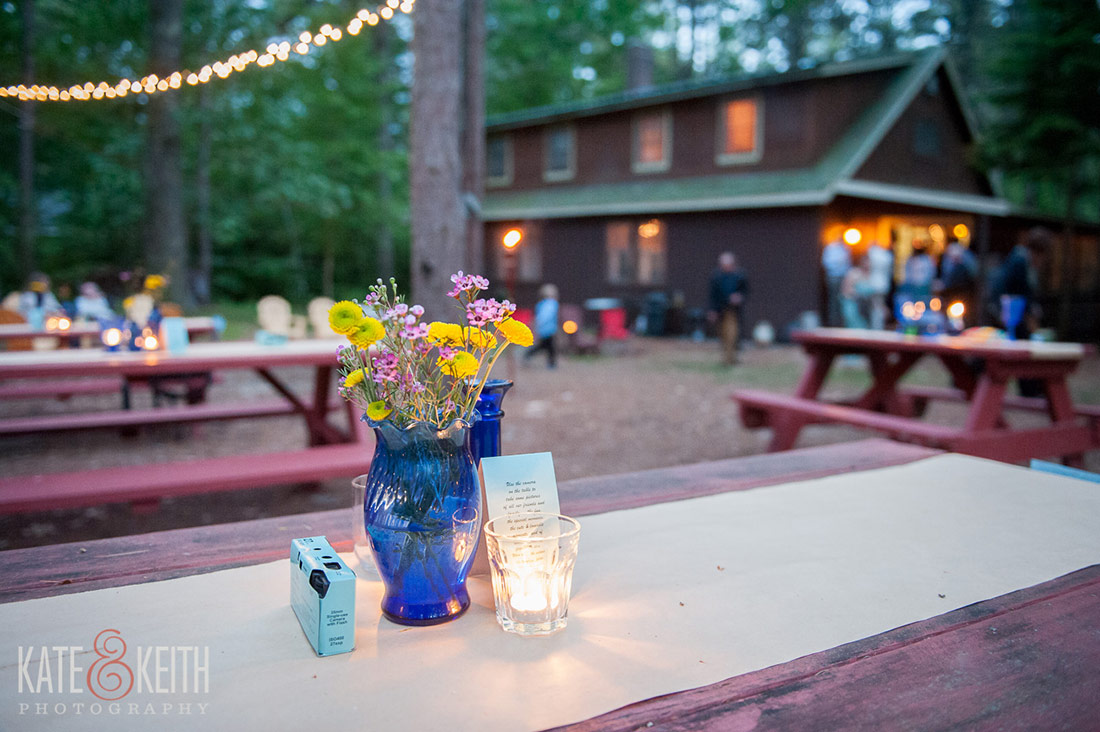wedding Camp wind in the pines