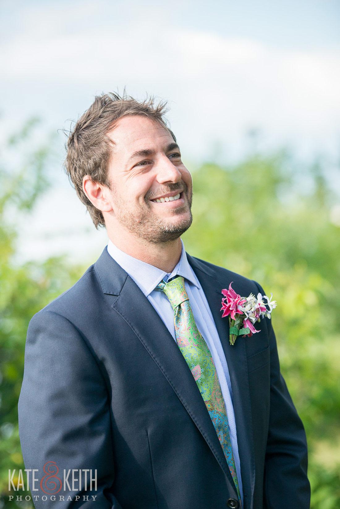 Cliff Island Wedding groom