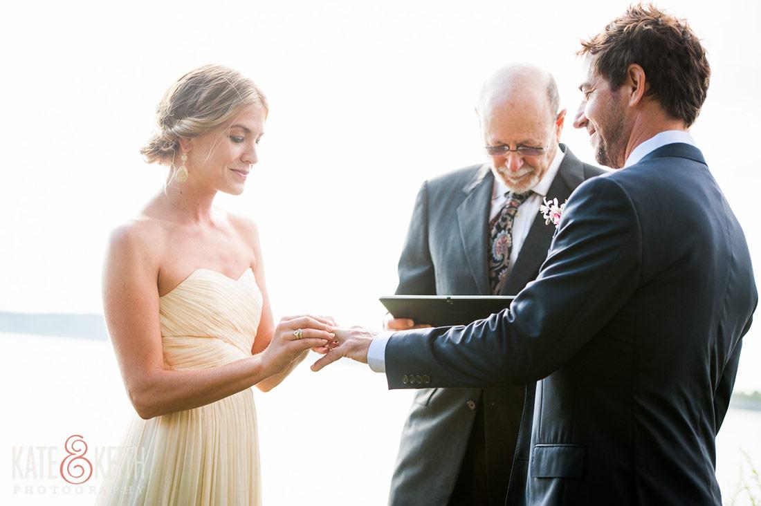 Cliff Island Wedding ceremony