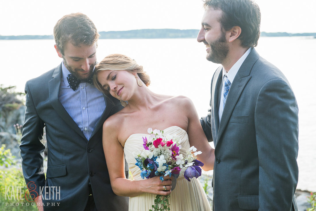 Cliff Island Wedding family