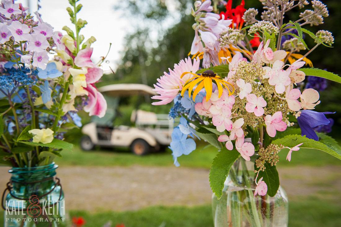 Cliff Island Wedding flowers