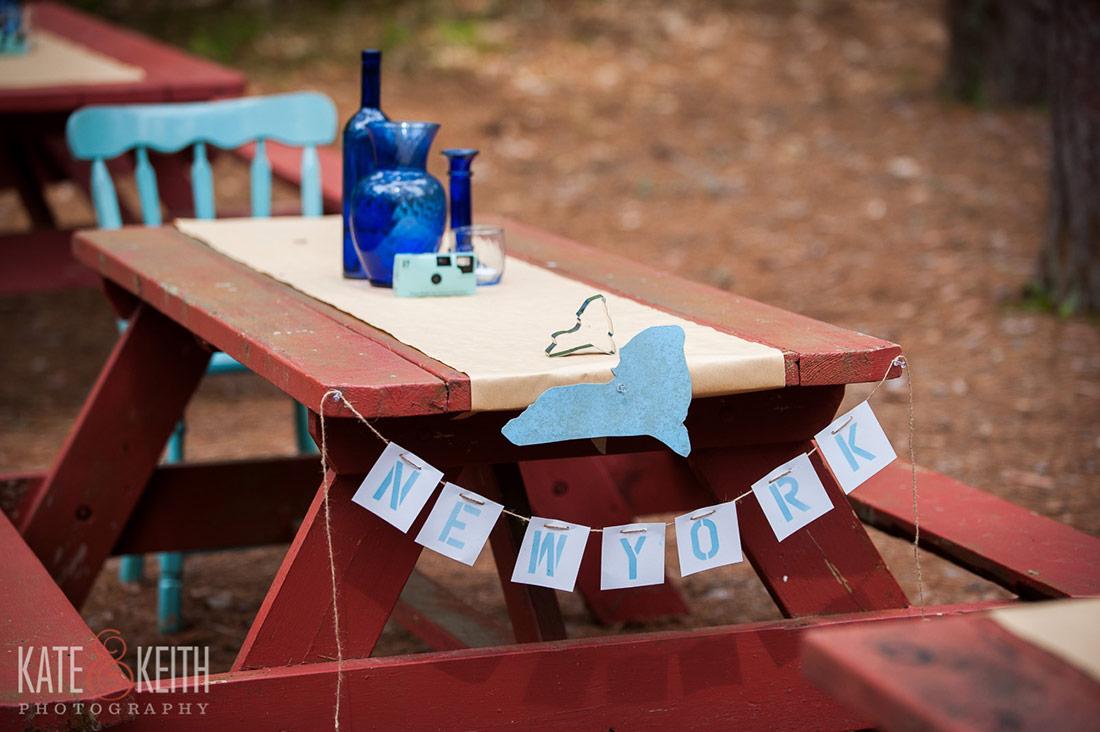 Camp wedding Raymond, Maine details