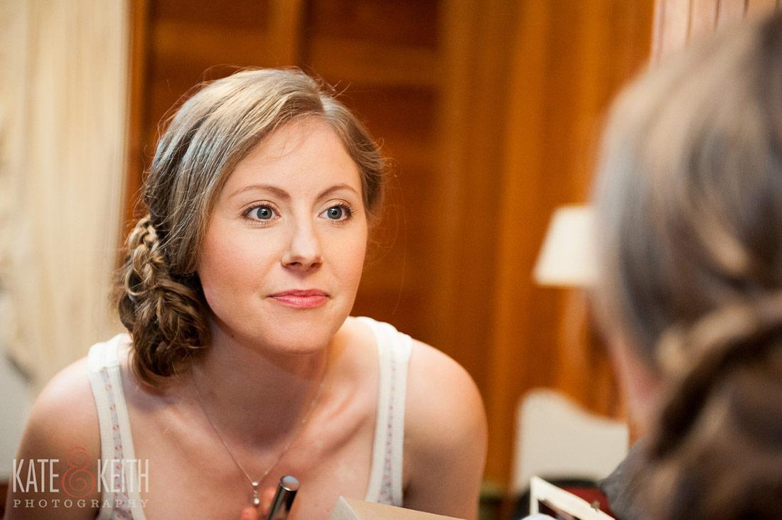 Sebago Lake Wedding Raymond, ME bride getting ready