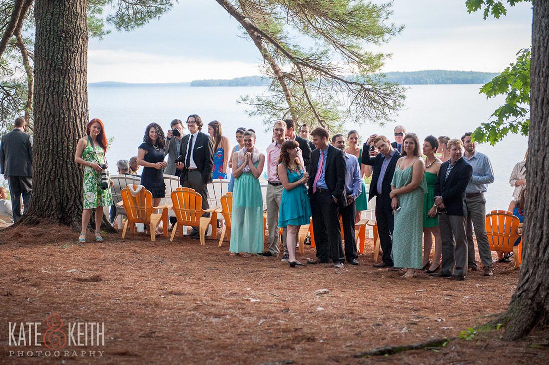 Sebago Lake Wedding ceremony guests
