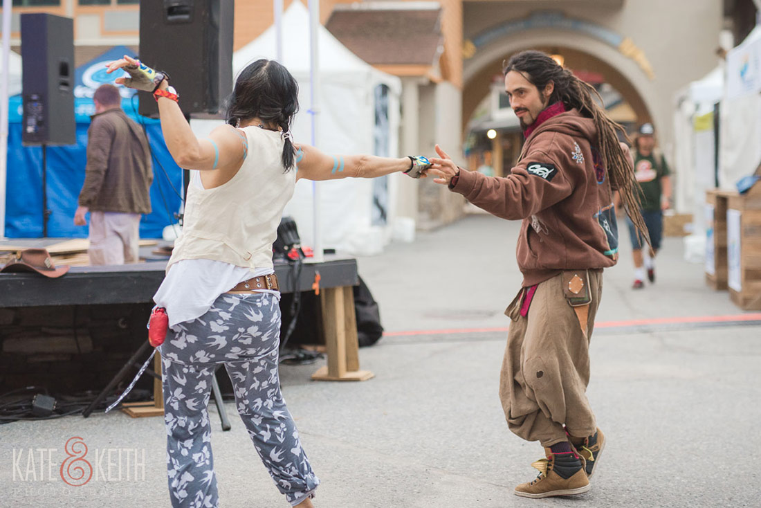 Dancing at Wanderlust Stratton festival in Vermont