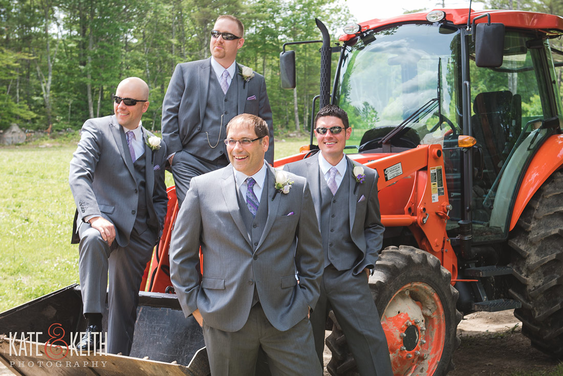 Tumbledown Farm wedding with tractor
