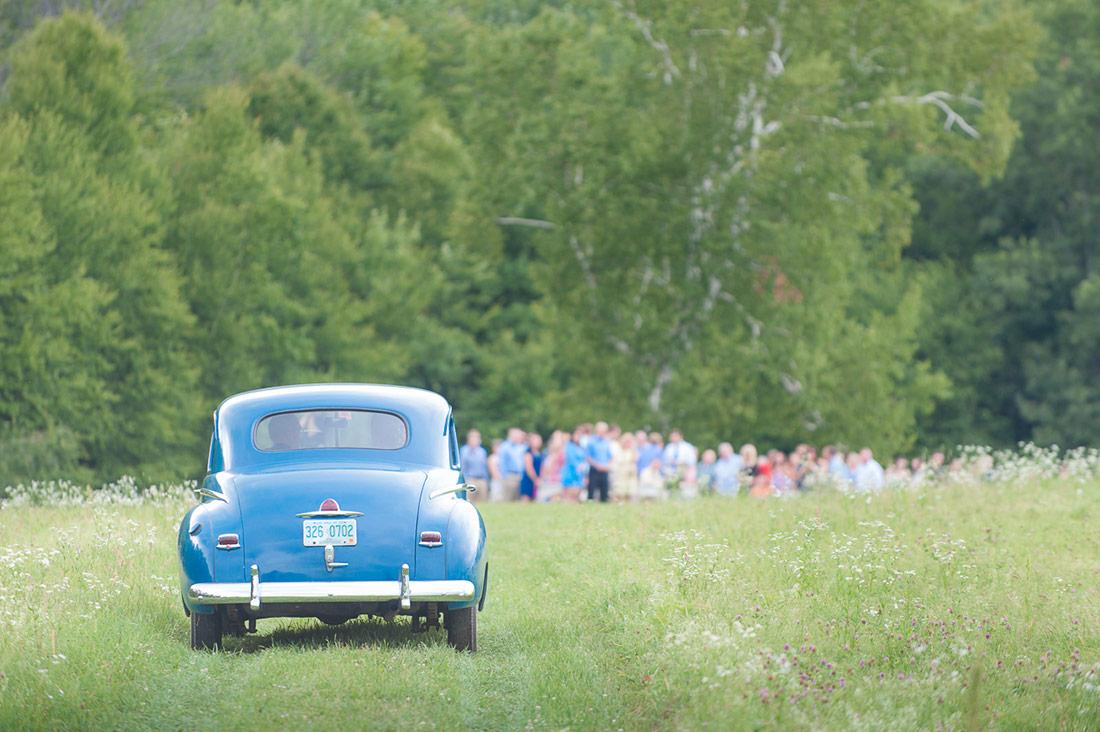 antique car wedding