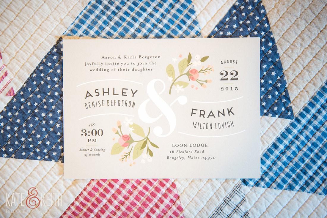 Rangeley Lake Wedding