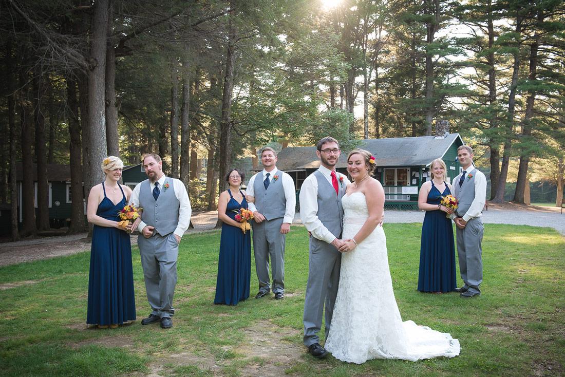 camp wedding party