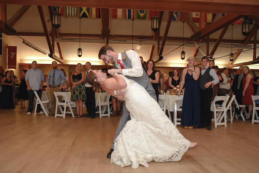 camp wedding first dance