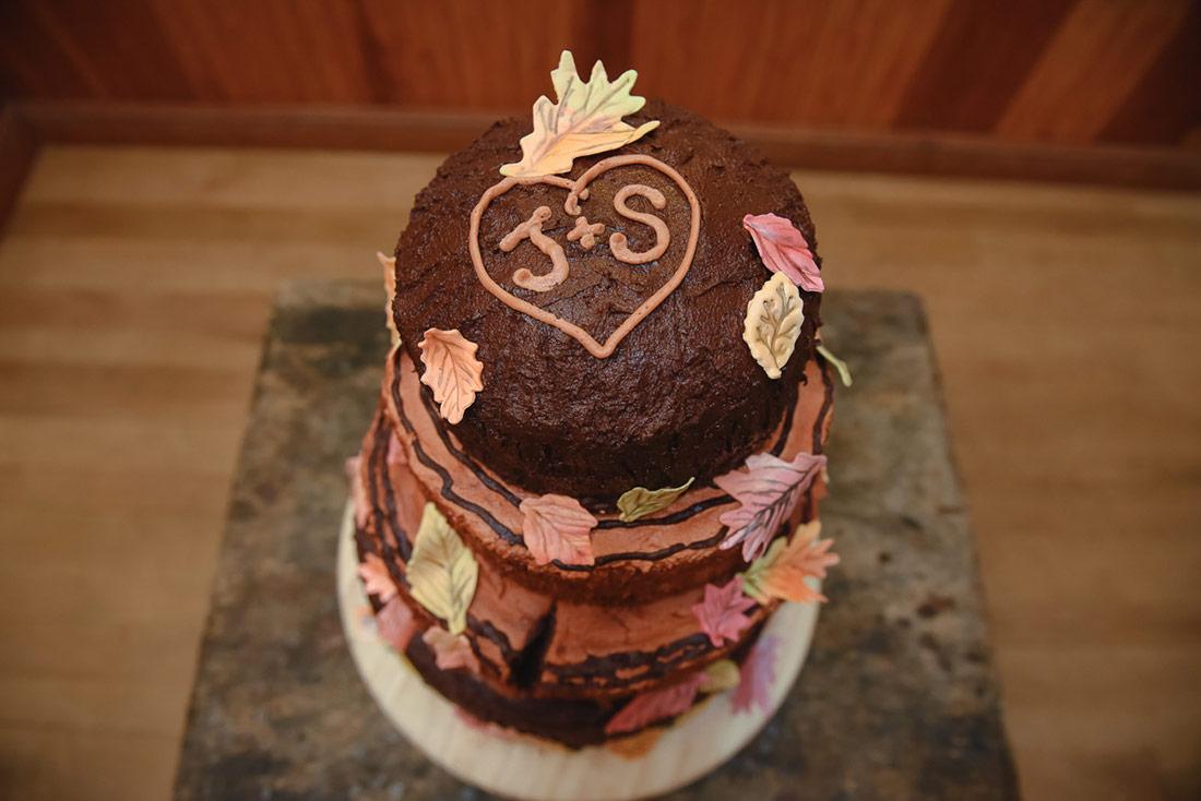 camp wedding cake